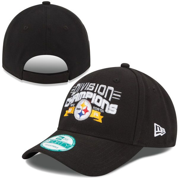 Pittsburgh Steelers New Era 2014 AFC North Division Champions 9FORTY Adjustable Hat – Black - $10.99