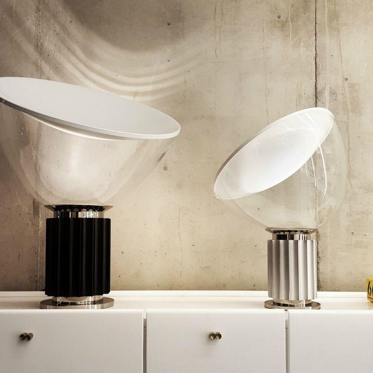 Flos Taccia Small, nuova versione con dimensioni ridotte della famosissima lampada Taccia di Achille Castiglioni.