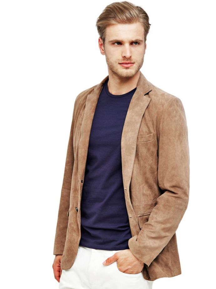 EUR399.00$  Buy now - http://viyel.justgood.pw/vig/item.php?t=7g8e56b26984 - MARCIANO SUEDE BLAZER EUR399.00$