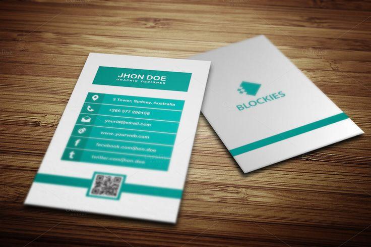 Minimalist Vertical  Business Card by JigsawLab on @creativemarket
