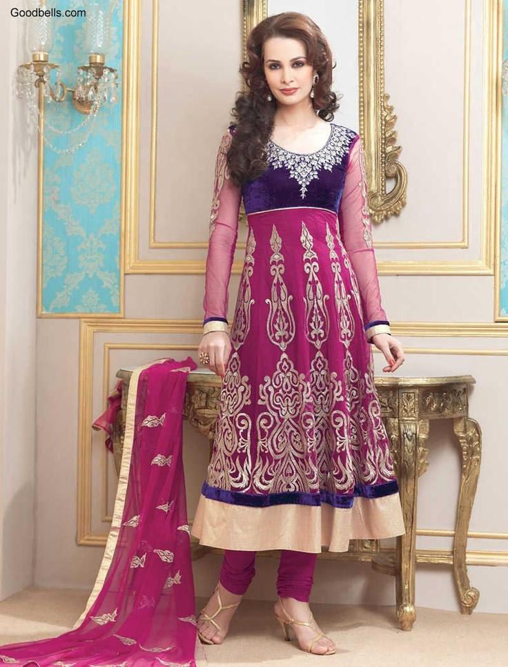 Salwar Kameez:R33P173   Bridal Pink Anarkali Salwar Kameez