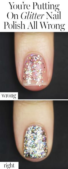 Step up your glitter polish game with this genius hack.........we will see about this!