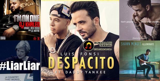 Di awal minggu bulan Juni ini, posisi pertama masih dipegang oleh Luis Fonsi & Daddy Yankee Ft. Justin Bieber dengan lagu mereka 'Despacito'. western charts,western charts june 2017,western charts june 2017 week i,tangga lagu barat,tangga lagu barat juni 2017,tangga lagu barat juni 2017 minggu 1,tangga lagu terbaru,download lagu gratis