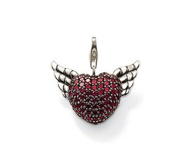 Thomas Sabo Red Winged Heart Charm