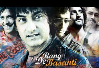 Rang De Basanti - - A Colorful Graffiti of Present day Youth Spirited with Revolutionary Patriotism.    Genre: Drama; Biography; Based on a Book  Movie Overall Rating: ***** (4 star out of 5)  Rang De Basanti cannot be described in a line but the nearest I can go is:  A colorful graffiti of present day youth spirited with revolutionary patriotism. It's a movie about free-spirited but discontented youth, skeptic about their anonymous future;