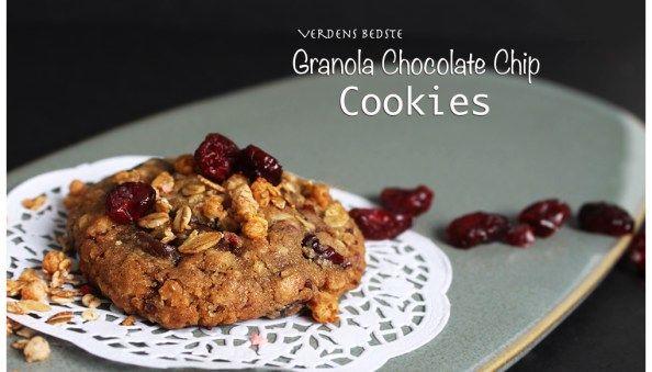 Verdens Bedste Granola Chocolate Chip Cookies