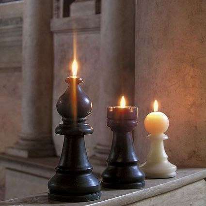 "LIBASTYLE.COM: ""The Bishop"" Candle - Scaccomatto Chess Candles"