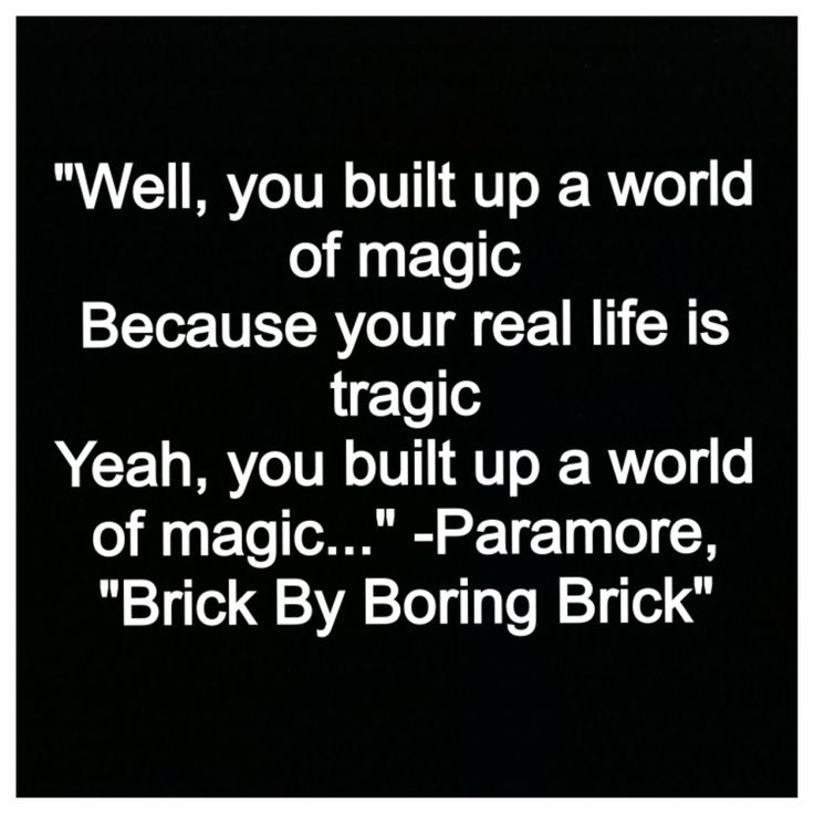 paramore quotes brick by boring brick - photo #9