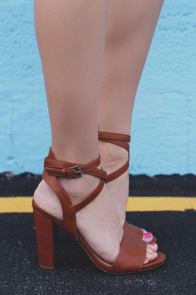 Vegan Leather Toe Strap Wrap Ankle Block Heel Morris-10 – UOIOnline.com: Women's Clothing Boutique