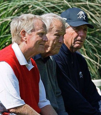 Jack Nicklaus, Arnold Palmer, Gary Player.