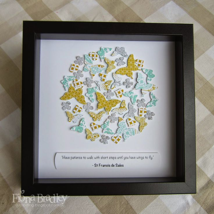 Butterfly shadow box $35 customised (+ postage Australia wide only) Just Spiffing - Fiona Bradley - Stampin Up