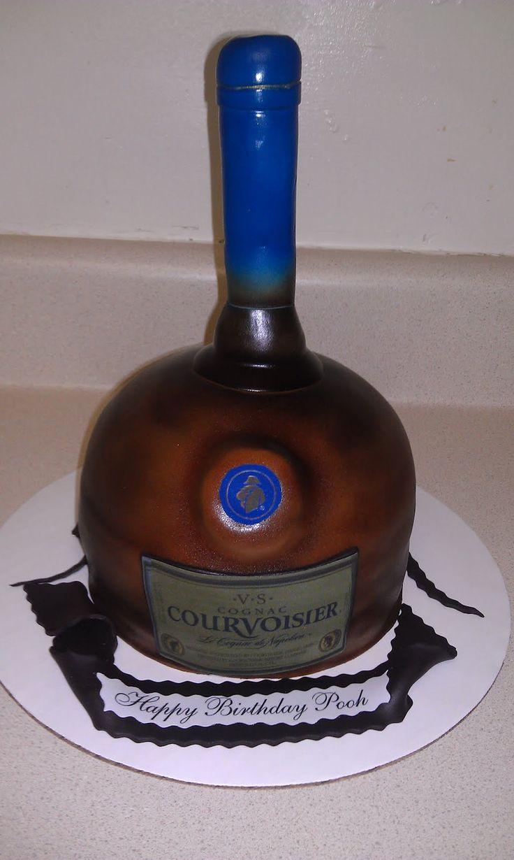Courvoirsier Cake Courvoisier Cognac Bottle Cakes
