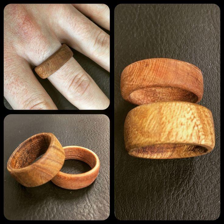Wooden rings.