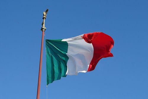 Bandeira da Itália imagem
