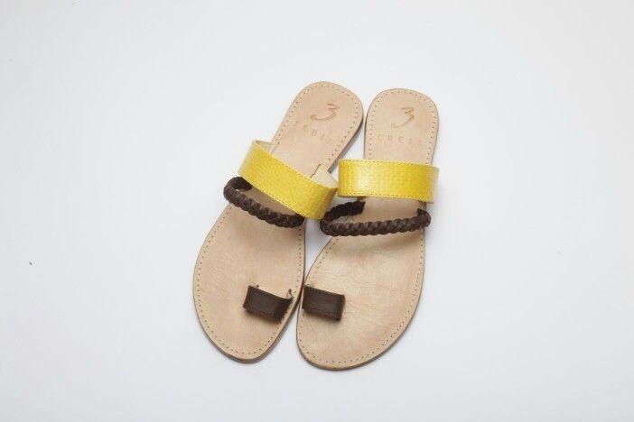 anastasia yellow ( handmade leather sandal )