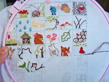 77 Best Embroidery Samplers Images On Pinterest Stitches