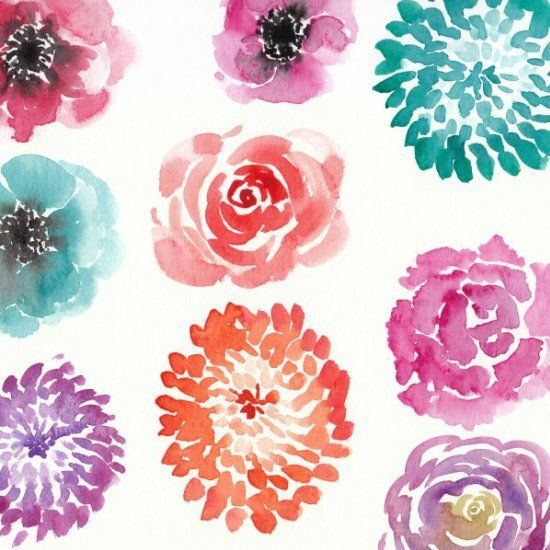 Watercolor Flower Tutorials