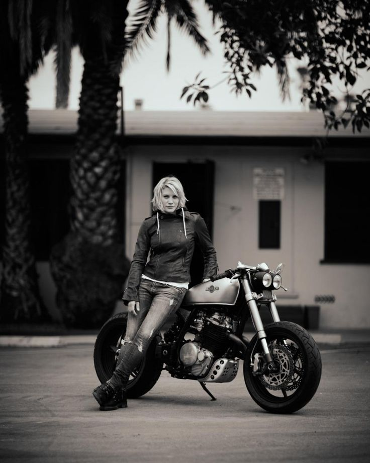 Katee Sackhoff and her KT600 built by Classified Moto