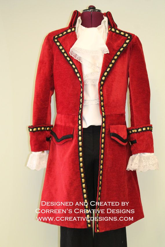 Costume de capitaine Crochet Pirate par correenscdesigns sur Etsy