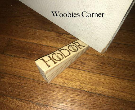 Hodor door stopper Hold the Door holder Hodor by WoobiesCorner