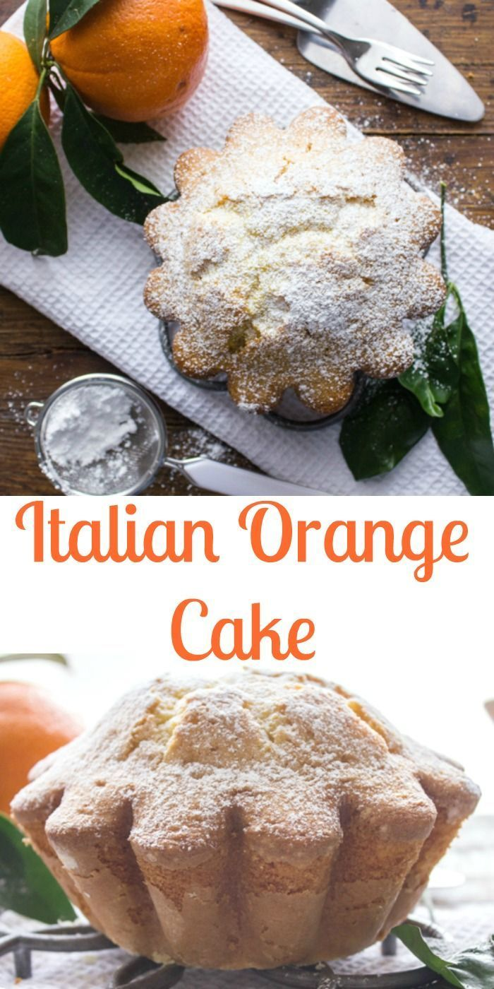 Italian Orange Cake, a moist and delicious made from scratch cake recipe. Homemade and easy, perfect for breakfast, snack or even dessert. anitalianinmykitchen.com