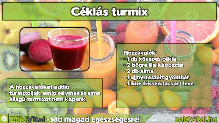 Céklás turmix recept