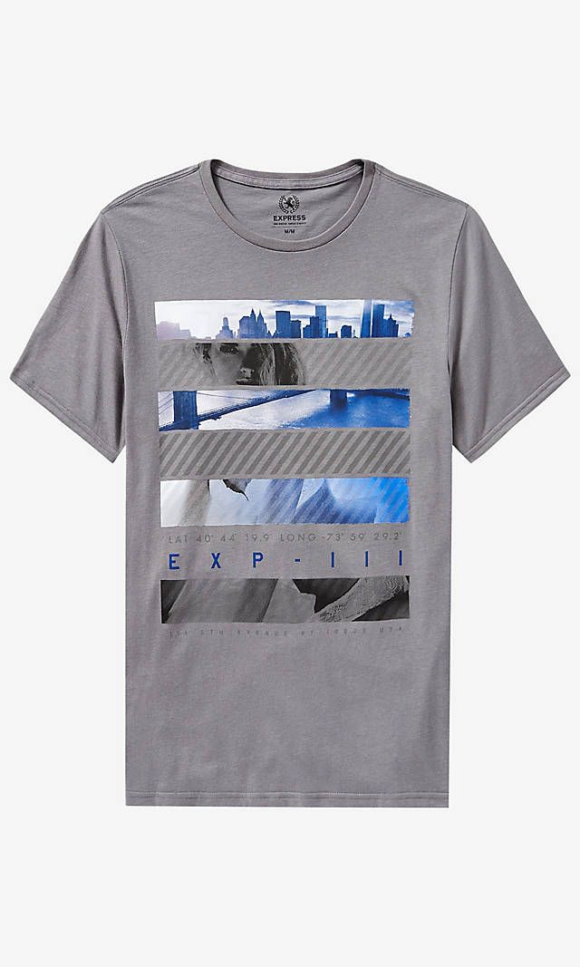 Gray EXP City Graphic Tee | Express