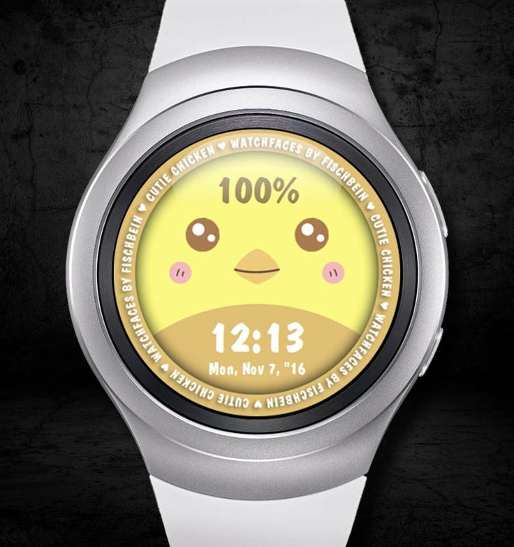 Cutie Chicken 24h – Watchfaces by Fischbein