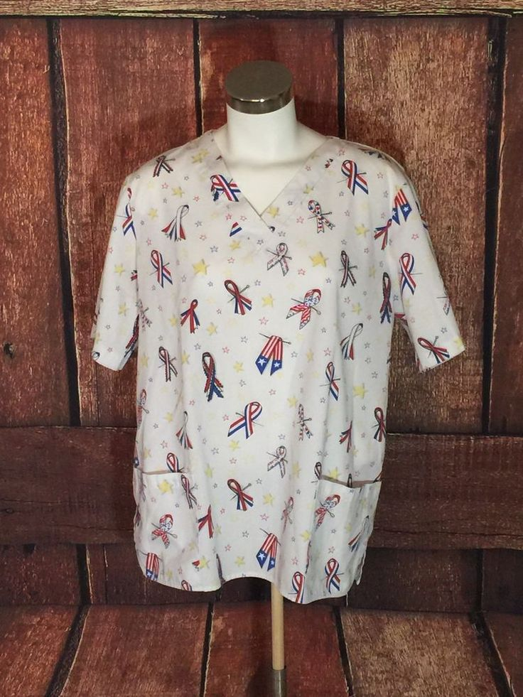 G.A.L.S. of California Medical Nurse Uniform Scrub Patriotic Ribbons (J3)  | eBay