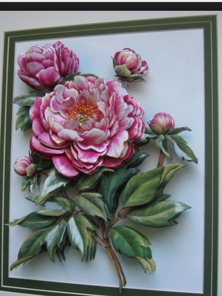 Rose Gül relief kabartma