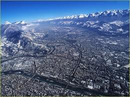 Une vue magnifique de Grenoble
