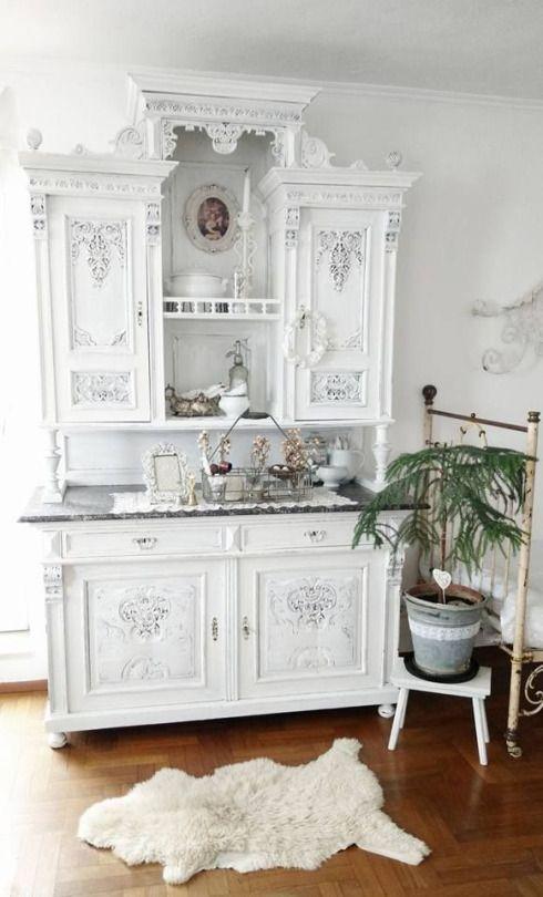 M s de 20 ideas incre bles sobre buffet antig edades en - Muebles pintados en plata ...