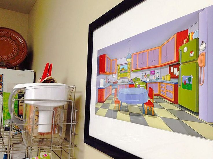 Casal canadense recria cozinha dos Simpsons na própria casa
