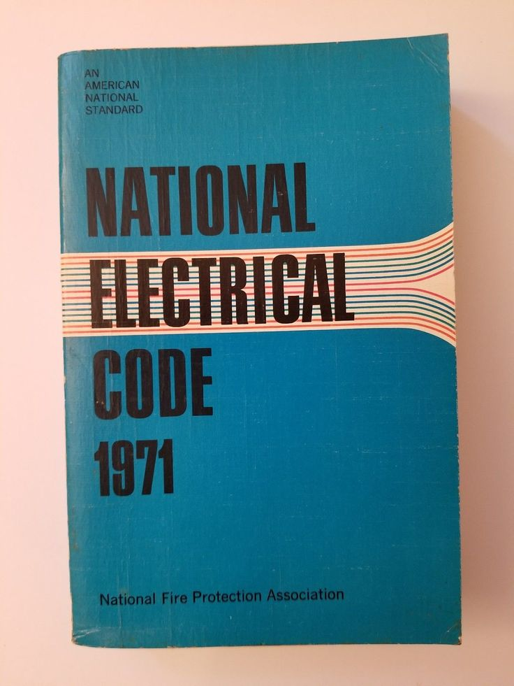 1971 National Electrical Code Book NFPA Soft Back Vintage Manual Fire Protection | eBay