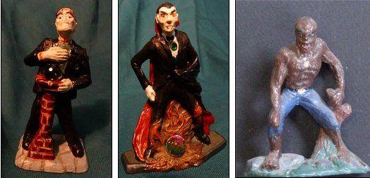 Monster figure Molds. Vampire, Werewolf, Monster Man for mold making.