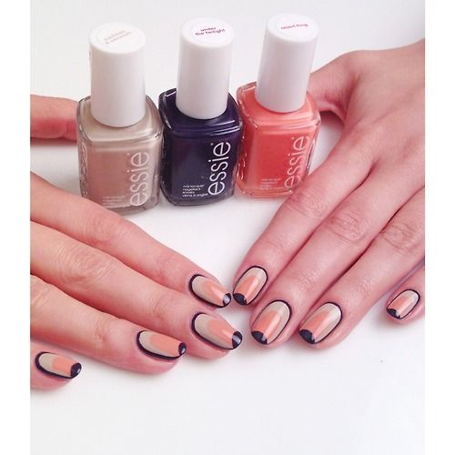 A nail look I created for Essie UK using the Resort Collection
