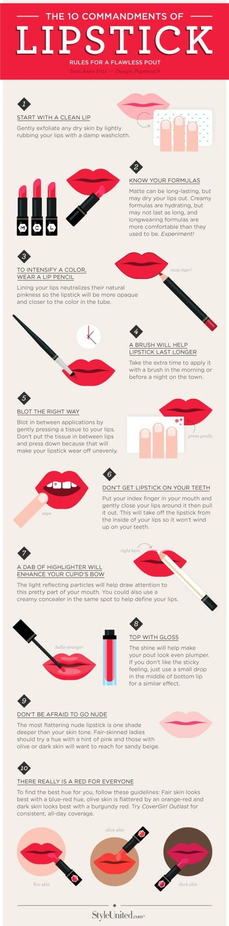 Lipstick 101: The Top 10 Rules For A Flawless Pout | Bridal Musings