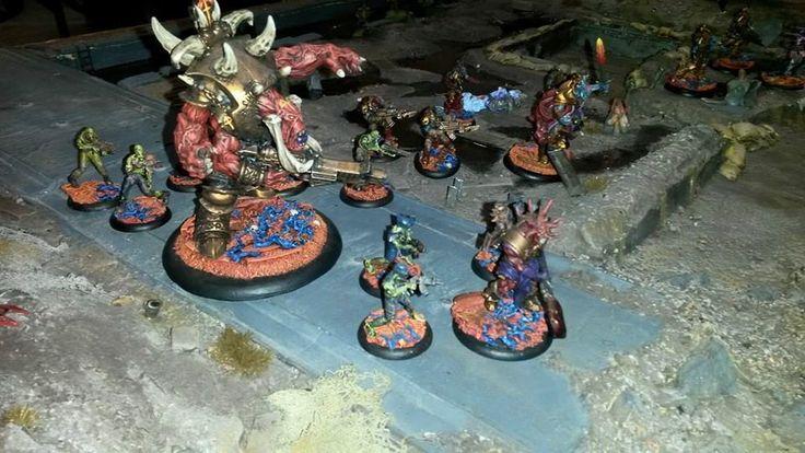 Las fuerzas de la Legión Oscura avanzan hacia el enemigo.