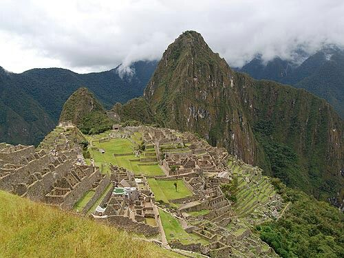Machu Picchu inPeru. The ancient Inca citadel high in the Andes is one the best-known archaelogical sites in the world and instantly recognizable. Despite its fame, surprisingly little is known about the complex of temples, houses, fields, and palaces, which cover terraced ridges 2,000 feet above the Urubamba River. The 500-year-old ruins were covered in jungle until being re-discovered by explorer Hiram Bingham in 1911.