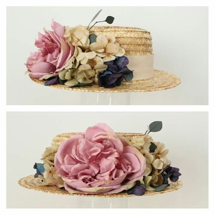 Canotier i like boater's hats but definitely without the flowers