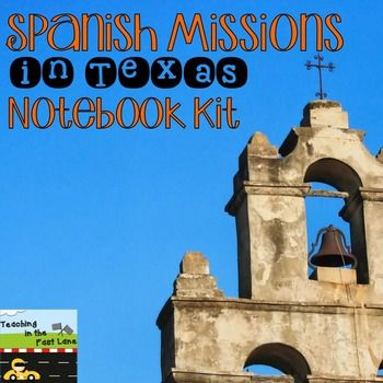 spanish missions of texas notebook kit spanish activities and the o 39 jays. Black Bedroom Furniture Sets. Home Design Ideas