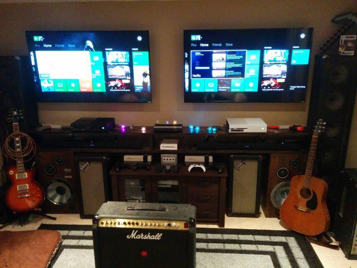 two tv gaming setup originally linked from reddit thread. Black Bedroom Furniture Sets. Home Design Ideas