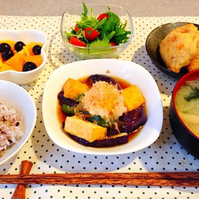 ダイエット献立day2☆ 野菜は素揚げにはせず、トースターで焼いてオイルカット! - 15件のもぐもぐ - *なすピーマン厚揚げの揚げ浸し風* by ekekek55555