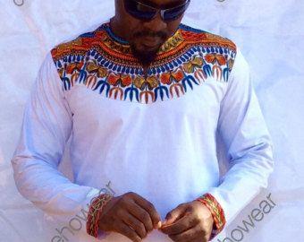 Odeneho Wear Men's White Polished Cotton Top/ by Odenehowear