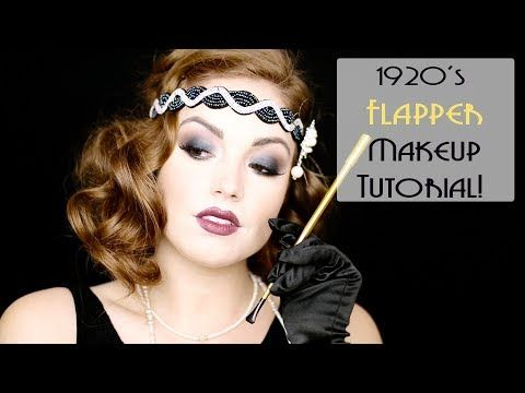 1920's FLAPPER MAKEUP | Makeup Through the Decades! - YouTube
