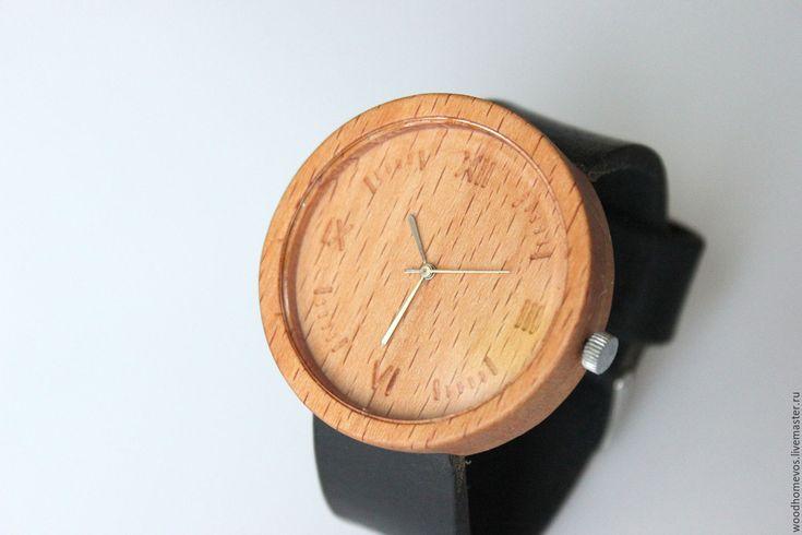 Купить Наручные часы из дерева (бук) - комбинированный, бук, часы, часы наручные, часы в подарок