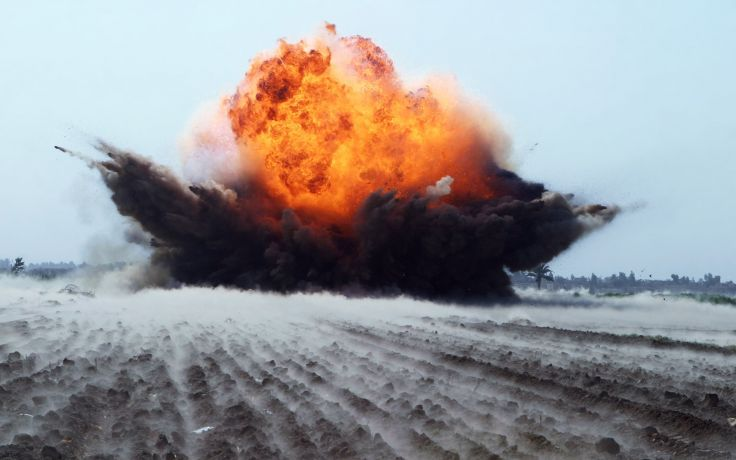 Agricultural Land bombing bomb explosion destruction war fire smoke army military Injustice Genocide
