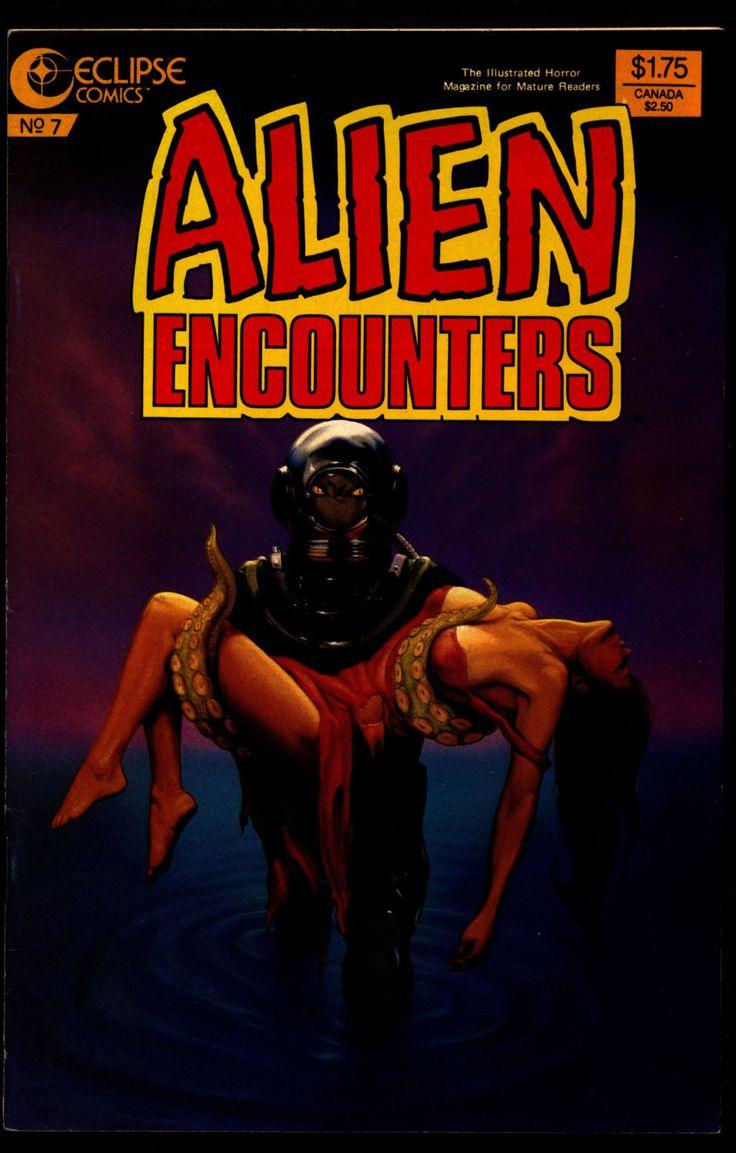 ALIEN ENCOUNTERS #7 Bruce Jones Bo Hampton Richard Howell Rick Geary Chuck Beckum eclipse Comics Science Fiction Horror
