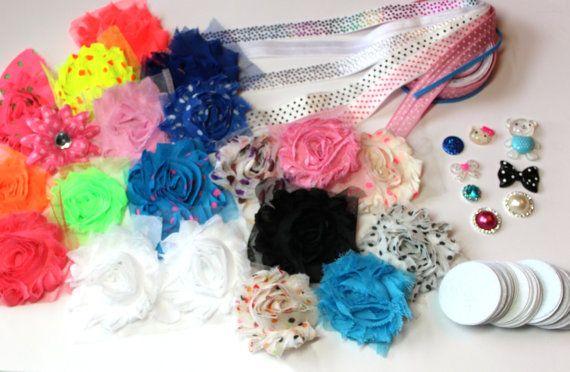 Baby Headband Kit - DIY Baby Headband Bar- Polka Dot Craze on Etsy, $12.00