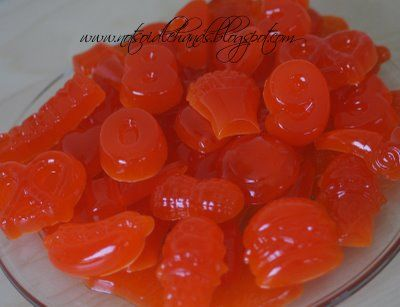 Recipe for homemade gummy things - 6 oz jello, 6 packets unflavored gelatin, 2/3 cup water - easy & yummy